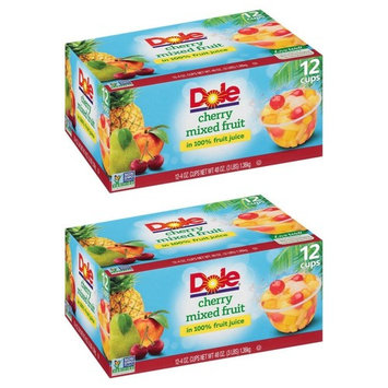 Dole Fruit Bowls, Peaches Mandarin Oranges and Cherry Mixed Fruit, 4 Ounce, 12 Count (2 Pack)