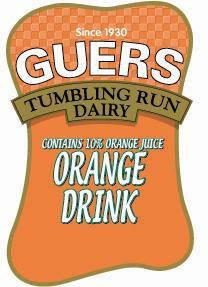 Guers Dairy Orange Drink Pint Paper