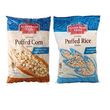 Arrowhead Mills Puffed Corn + Puffed Rice (6 of each, 12 total)