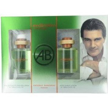 Mediterraneo By Antonio Banderas For Men Edt Spray 3.4 Oz & Aftershave 3.4 Oz