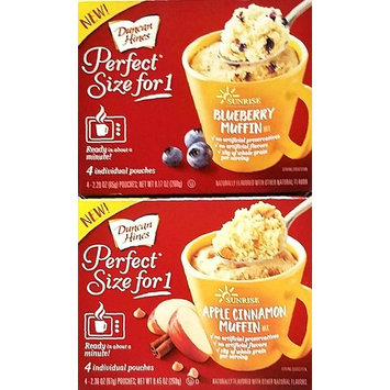 Pack of 2 Perfect Size For 1 Mug Muffin Mixes 1 Apple Cinnamon Muffin Mix, 1 Blueberry Muffin Mix