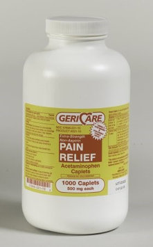 McKesson Brand Pain Relief 500 mg Strength Caplet, 1000 per Bottle, Case of 12