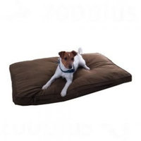 Comfortable Dog Mattress With Removable, Dark Brown Cover With Soft Stuffing - Perfect Place For Your Dog To Stretch Out And Snooze By eCommerce Excellence (Approx. 104 x 68 x 8 cm (L x W x H))