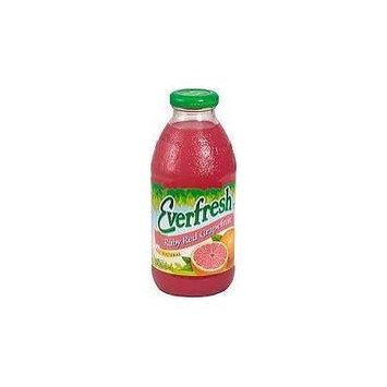 Everfresh: Ruby Red Grapefruit Juice 16 Oz (12 Pack)