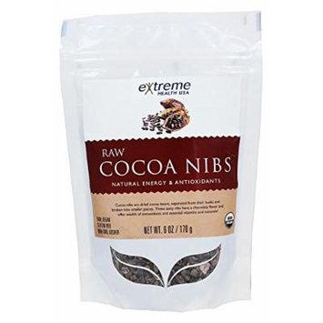 Extreme Health USA Organic RAW Cocoa Nibs -- 6 oz