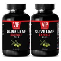 Antioxidant - OLIVE LEAF EXTRACT - Natural supplements for pain - 2 Bottles 120 Capsules