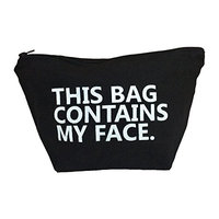 This Bag Contains My Face Toiletry Bag Travel Kit Cosmetic Makeup Case