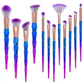 Powder Foundation Eyeshadow Lip Brush,YJM 12Pcs Pro Makeup Cosmetic Brushes Set