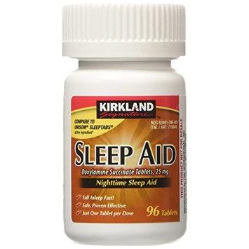 Kirkland Signature Sleep Aid Doxylamine Succinate 25 Mg 4 Bottles X 96 Tabs