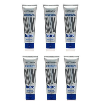 Barc Cutting Up, Unscented Shave Cream, 6 Oz (Pack of 6) + FREE LA Cross 71817 Tweezer
