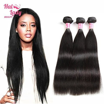 8A Halo Lady Natural Color Brazilian Straight Virgin Hair Unprocessed Brazilian Human Hair Weave 3 Bundle 24inches 300gram