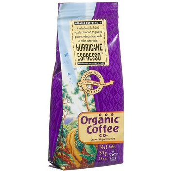 The Organic Coffee Co. Ground, Hurricane Espresso, 2 Ounce (Pack of 12)