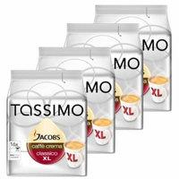 Tassimo Jacobs Caffè Crema XL, Rainforest Alliance Vérifié, Lot de 4, 4 x 16 T-Discs