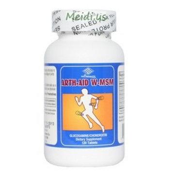 Arth-Aid W-MSM new Glucosamine Chondroitin 120 Counts