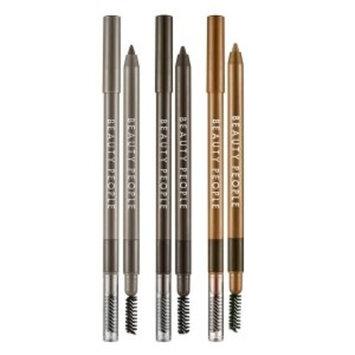 Beauty People Waterproof Formula Eyebrow Auto Pencil with Brush 0.4g KOREA (3 COLORS) (SMUDGE GREY)