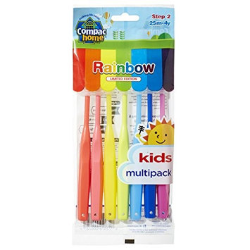 Super Value Pack 7ct BPA Free Training Toothbrushes Step 2 for Ages 2-4 Years