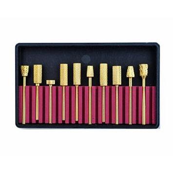 10 pcs Professional Electric Nail Drill / File Carbide Bits Acrylic Nail Art Tool Nails Design Drawing Tool Gift