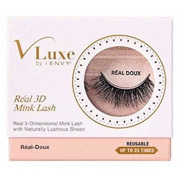 Kiss Vluxe Real 3D Mink Lashes Real Doux (2 Pack)