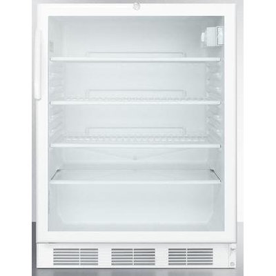 Summit SCR600LBIADA: ADA compliant commercially listed beverage center for built-in use, with white cabinet