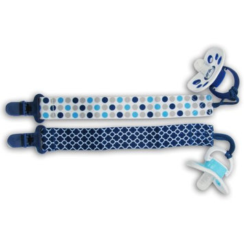 Petite Creations Pacifier Holder 2 Pack, Blue