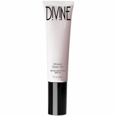 Divine Skin & Cosmetics - Light Weight, Full Coverage Mineral Sheer Tint Foundation with Spf20 - Deep