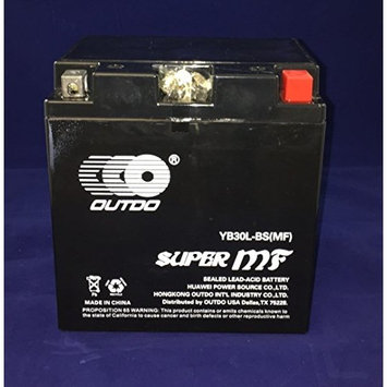 YTX30L-BS 12V 30AH Battery for BMW R90/6, R9OS '69-'76 - Outdo Battery brand product