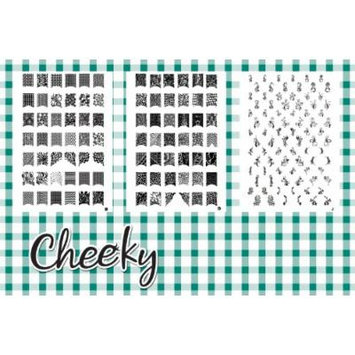 New Bundle 3 Nail Art Jumbo Image Plates Stamps (Z4) of 168 Designs by Cheeky®