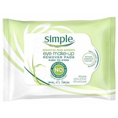 Simple Eye Make-Up Remover Pad, 30 Count (Pack of 3)