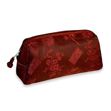 Cosmetic Bag - Silk Jacquard (Chili Red)