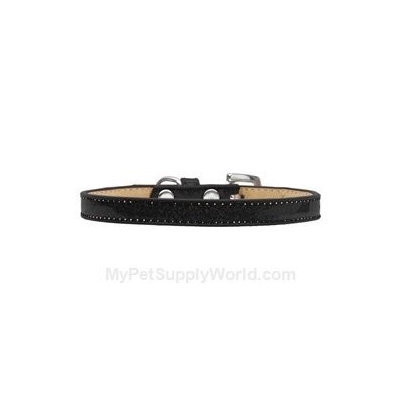 Mirage Pet Products 1030 12BK Plain Ice Cream Collars Black 12