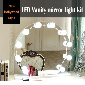 LED Vanity Mirror Lights Kit, 10 Dimmable Natural White Bulbs, Lighting Fixture Strip, Vanity Makeup Lights for Cosmetic Mirror in Dressing Room, Bathroom(Mirror Not Included)