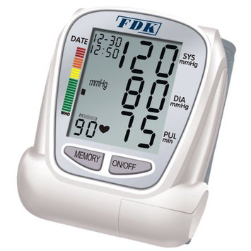 FDK FT-B22Y-V BP Monitor Wrist Cuff With 1 Color Display Portable 2.6 oz Weight With Batteries