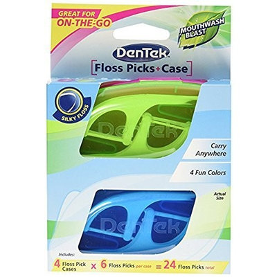 DenTek Travel Case with Flossers in Tray, 4 Count