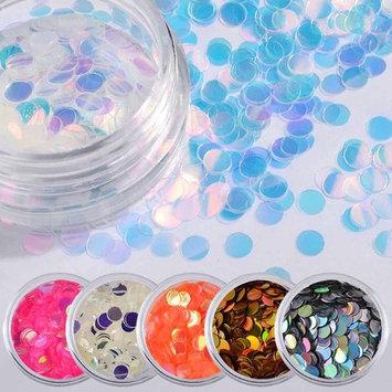 Echou 6Color Long Sequins Dazzling Sticker Colorful Nail Art Decoration