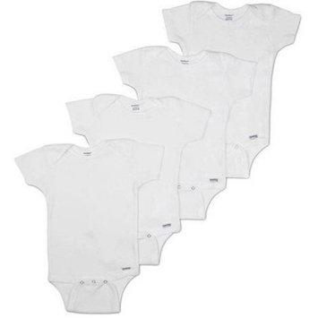 Gerber Newborn Baby Unisex Onesies Brand Short Sleeve Bodysuits, 4-Pack