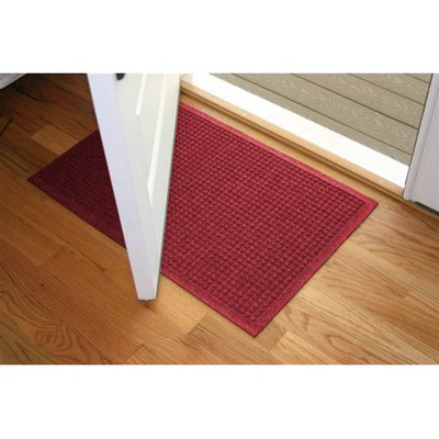 Bungalow Flooring 24 in. L x 36 in. W Red Waterguard Squares Mat