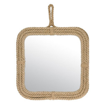 Stonebriar Collection Rope Square Wall Mirror