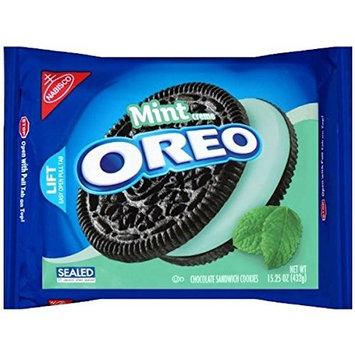 Oreo Chocolate Sandwich Cookies, Mint Creme Flavor, 15.25 oz (2 Pack)