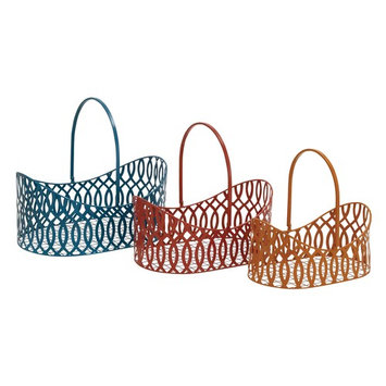 Simply Lovely Metal Basket Set Of 3