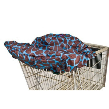 Wupzey Shopping Cart Cover, Blue Giraffe
