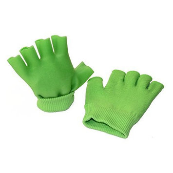 2 pcs Moisturizing Spa Gloves Half Finger Touch Screen Gloves Gel Line with Essential Oils and Vitamin E