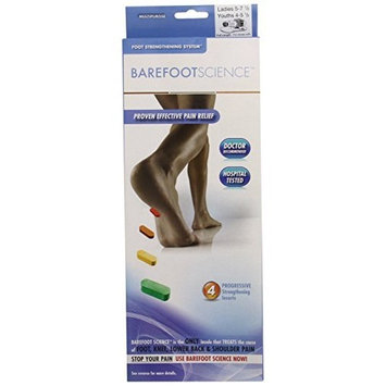 Barefoot Science 4 Step Multi Purpose Insoles, Full Length, Size XS