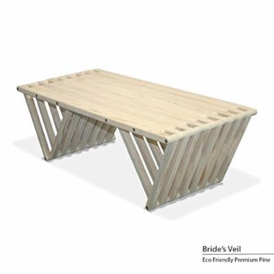 GloDea X60 Coffee Table, Bride's Veil