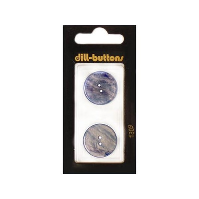 Dill Buttons 20mm 2pc 2 Hole Royal Blue