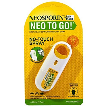 Neosporin Neo to Go Antiseptic Pain Relieving Spray, 0.26 Ounce Per Pack (12 Pack)