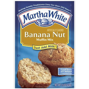 Martha White Muffin Mix, Banana Nut, 7.6-Ounce Packages (Pack of 12)