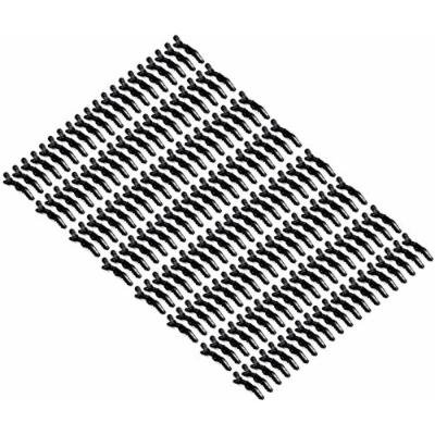 Hair Tamer Black Croc Hair Styling Clips - 120 Pack