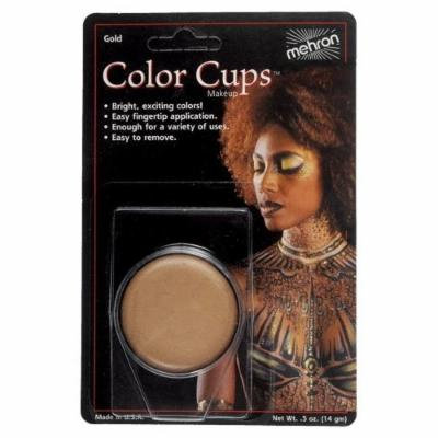(3 Pack) mehron Color Cups Face and Body Paint - Gold