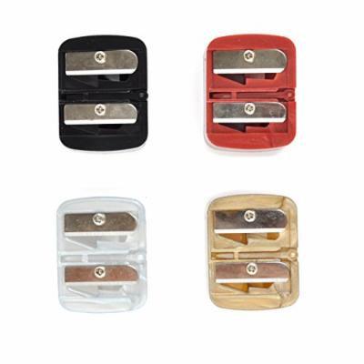 Italia Cosmetics Dual Sharpener Eyebrow Lipliner Pencil Sharpener 2 Holes 24pcs