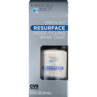 Beauty 360 Prep & Set Nail Polish, Resurface Ridge-Filling Base Coat [Resurface Base Coat]